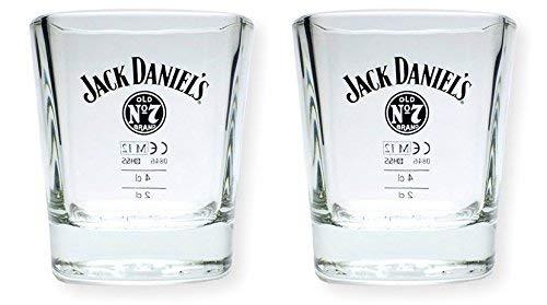 2 Stück Jack Daniels Whisky Tumbler - original Gläser 2cl/4cl Set