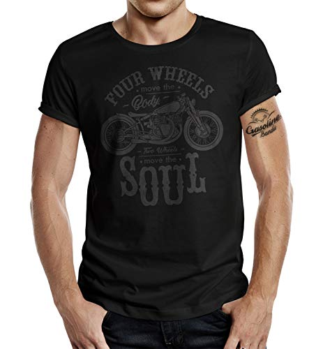 Biker T-Shirt: Two Wheels Move The Soul 3XL