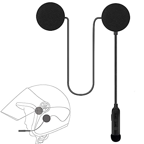 Auriculares para Casco de Motocicleta, Auriculares para Casco, Inalámbrico Bluetooth 5.0 Altavoz para Casco Ultrafino Auriculares Bluetooth Impermeables Sonido para Deportes