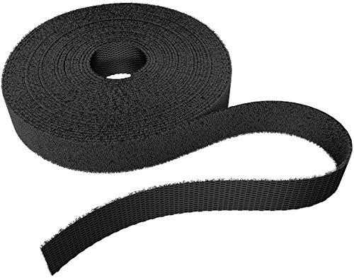 KabelDirekt - Klett Kabelbinder wiederverschließbar - 12,5mm x 15m - (Rolle für Kabel, frei zuschneidbar & wiederverwendbar, schwarz)