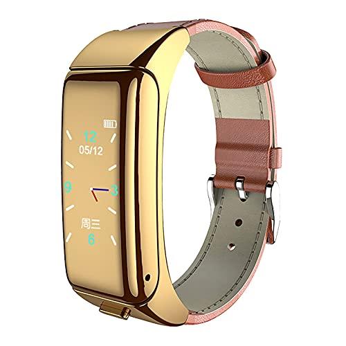 Pulsera inteligente 2 en 1 con auriculares Bluetooth, resistente al agua IP68, rastreador de fitness con pulsómetro, medición de presión arterial, seguimiento de actividad, podómetro