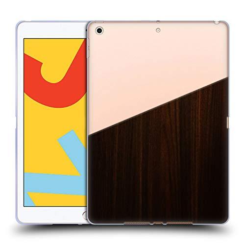 Head Case Designs Ufficiale Nicklas Gustafsson Legno Scuro Textures 2 Cover in Morbido Gel Compatibile con iPad 10.2 (2019)