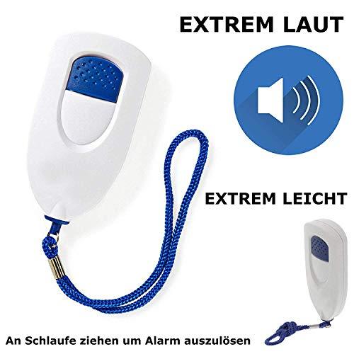 TronicXL Handalarmgerät Handtaschen Sirene Panik Alarm Sicherheit Safety Button Panikalarm mobil für Senioren Damen Herren Kinder Handalarm Selbstverteidigung Taschenalarm Handsirene