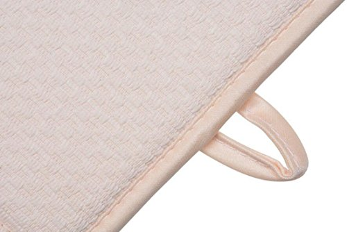 Tapis de séchage rapide et absorbant pour plan de travail - Tapis de séchage rapide - Antidérapant - En microfibre - Carré - 41 x 46 cm - Crème