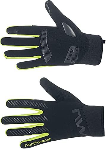 Northwave Active Gel 2022 - Guantes de ciclismo (talla S, 7), color negro y amarillo