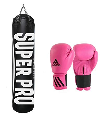 Super Pro Boxsack Water-Air Punchbag 100 cm Set 1 mit Speed50 12OZ pink, 95818