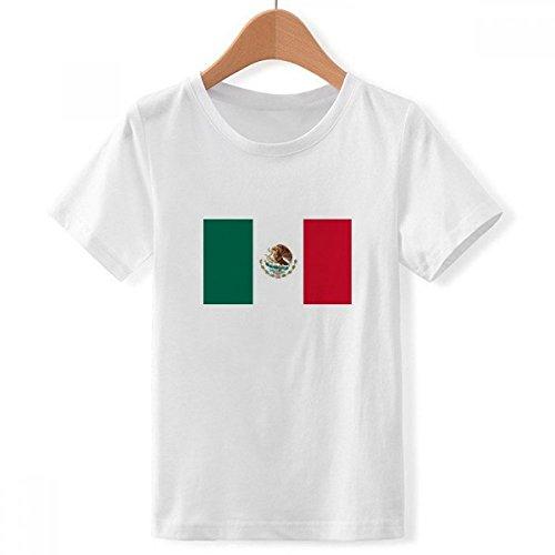 DIYthinker Tripulación Cuello méxico Bandera Nacional norteamérica país Camiseta para Chico Multicolor...