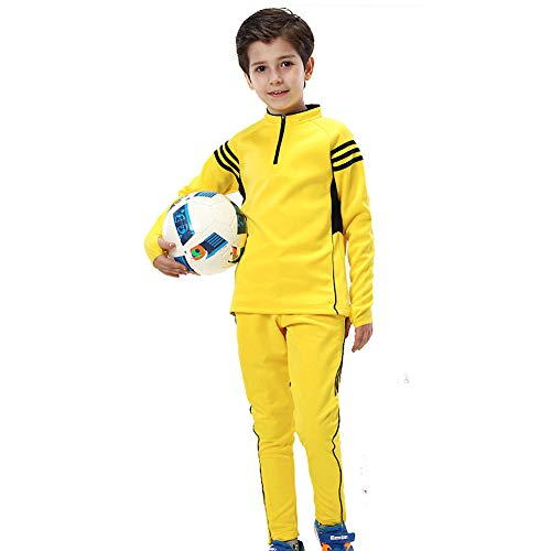 BUY-TO Kids Sport Voetbal Pak Winter Voetbal Sportkleding Training Outdoor Warm Jas Set Lange Mouwen Uniform voor Jongen Fitness Jas