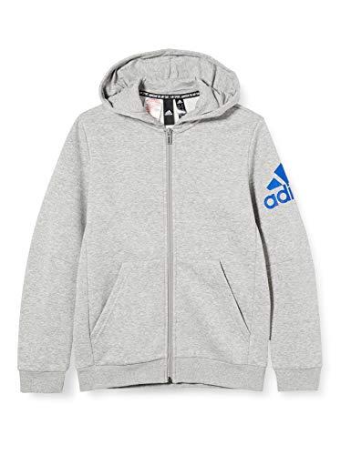 adidas Unisex-Child ED6486_116 Sweatshirt, Grey