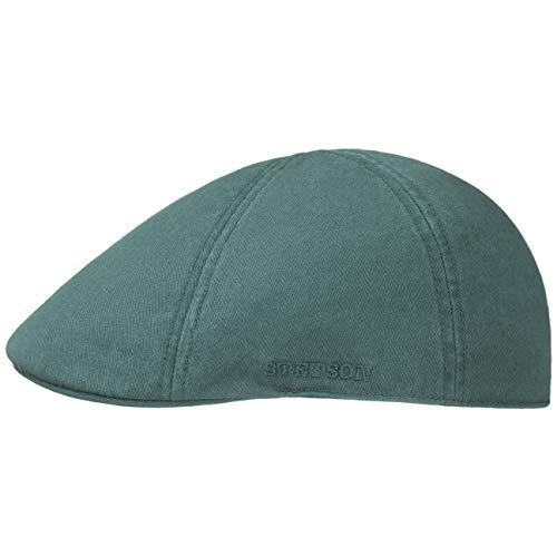 Stetson Texas Cotton Flatcap mit UV Schutz 40+ - Schirmmütze aus Baumwolle - Unifarbene Mütze Frühjahr/Sommer Petrol XL (60-61 cm)