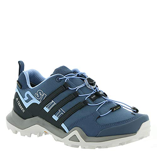 adidas outdoor Terrex Swift R2 GTX Hiking Shoe - Women's Tech Ink/Carbon/Glow Blue,...