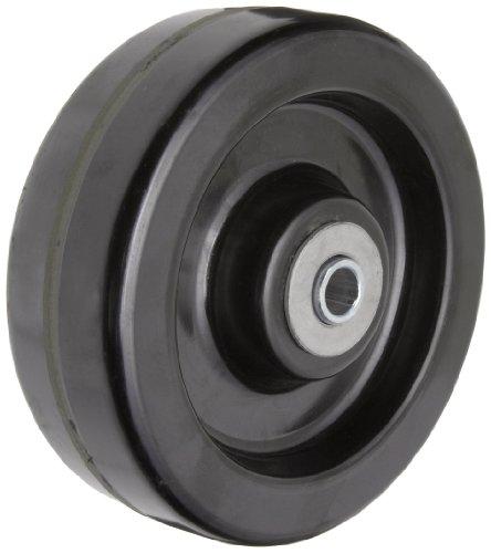 "RWM Casters DUR-0620-08 6"" Diameter X 2"" Width Durastan Phenolic Wheel with Straight Roller Bearing, 1200 lbs Capacity, 1/2"" Axle Diameter"