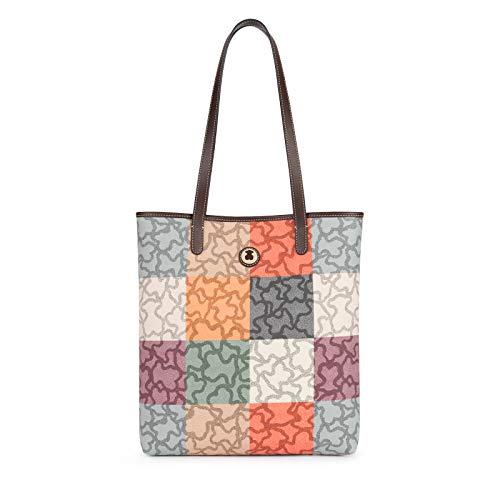 Tous Kc-219, Bolso Totes para Mujer, Multicolor (Naranja/Marrón 595800140), 30x35x9.5 cm (W x H x L)
