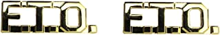 FTO Collar Insignia (Field Training Officers) - 1 PAIR (Gold (No Shine))