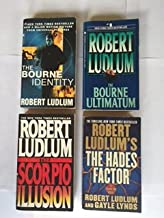 Robert Ludlum (4 Book set) The Bourne Identity -- The Bourne Ultimaturm -- The Scorpio Illusion -- The Hades Factor
