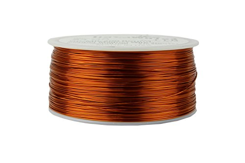 TEMCo 24 AWG Copper Magnet Wire - 1 lb 791 ft 200°C Magnetic Coil Winding