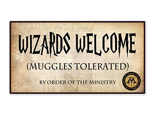 Coco&Bo - Magical Wizarding - Cartel de la Fiesta de Bienvenida tolerada por los Muggles - Harry Potter inspiró la decoración de la Fiesta de la Escuela de Hogwarts