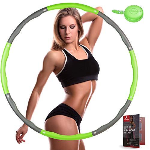 arteesol Hula-Reifen-Hoop Erwachsene, Fitness Reifen mit Mini-Maßband, Abnehmbarer Fitnesskreis mit Schaumstoffbeschichtung, Geeignet für Frauen und Männer zur Gewichtsreduktion