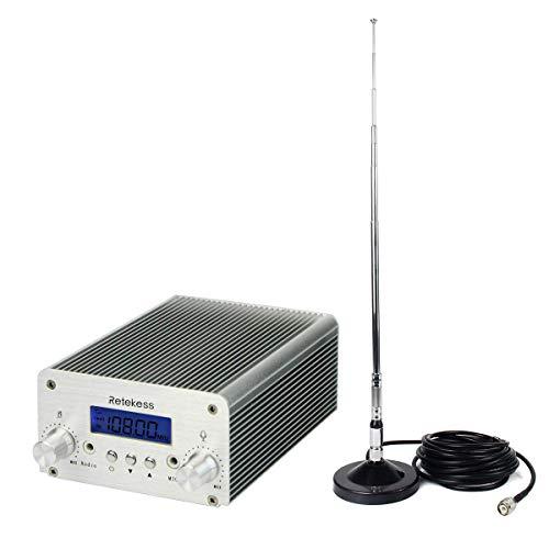 Retekess Transmitter Long Range Wireless Broadcast Stereo Station 8 Level RF Power...