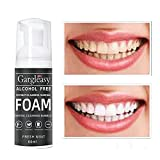 Coconut Oil Tooth Cleansing Mousse,Cleansing Mousse Toothpaste,Teeth Whitening Toothpaste, Foam Whitening Toothpaste,Mousse Foam Deeply Cleaning Gums, Stain Removal, Natural Mouth Wash Water (1PC)