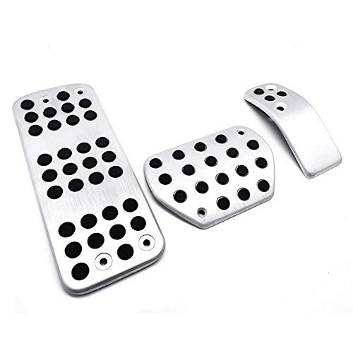 LILIXNX Automotive interior Car decoration Pedal Pad Plate,for Pe-ugeot 207 301 307 208 2008 308 408,for Citroen C3 C4/Ds 3 4 6 Ds3 Ds4 Ds6