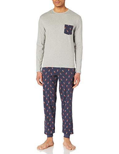 Springfield Pijama Estampado Baloncesto Juego, Azul Oscuro, L para Hombre