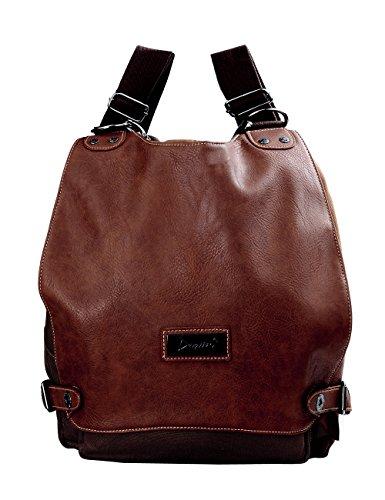 Douguyan Schicke Freizeit Rucksack Damen Multifunktionsrucksack Umhängetasche Schultertasche E55806 Kaffee