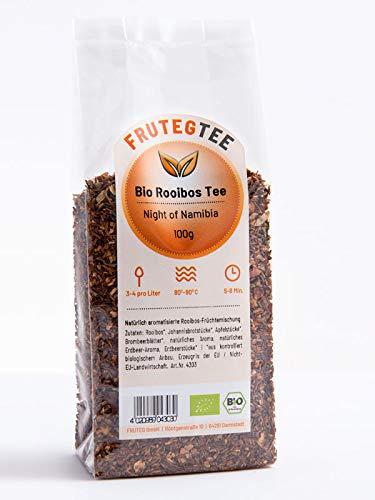 FRUTEG Bio Rooibos Tee Night of Namibia 1000 g I Loser Rotbusch-Tee in feinster Blatt-Qualität I Exotischer & Erfrischender Geschmack I Aus kontrolliert biologischem Anbau I 1 kg