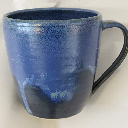 Tasse, Mega-Tasse blau, handgetöpfert, Höhe ca. 11 cm, Inhalt ca. 0,5 l Steinzeug