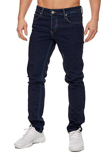 Tazzio Slim Fit Herren Styler Look Stretch Jeans Hose Denim 16533 Dunkelblau 30/34