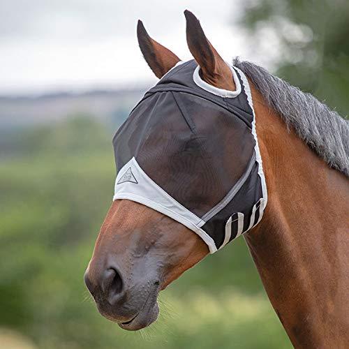 Shires Fliegenmaske No Ears - Schwarz - Gr. Pferd Xl