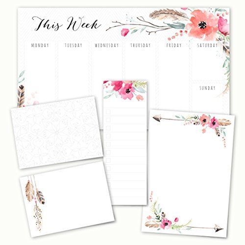 Boho Spirit Adhesive Sticky Note Pack - 5 pads - 50 sheets/pad
