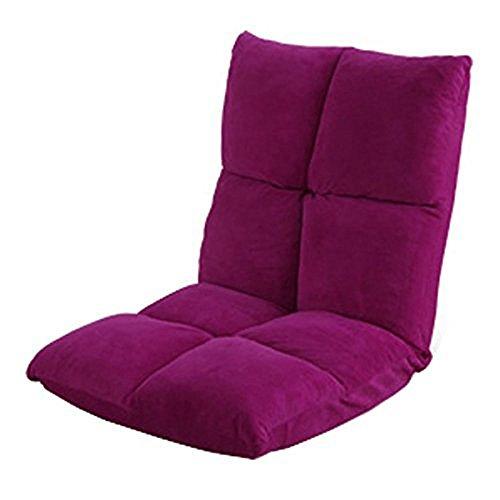 アイリスプラザ 座椅子 リクライニング 14段階 低反発 モコモコ なめらか マイクロファイバー生地 ディープピンク FC-540