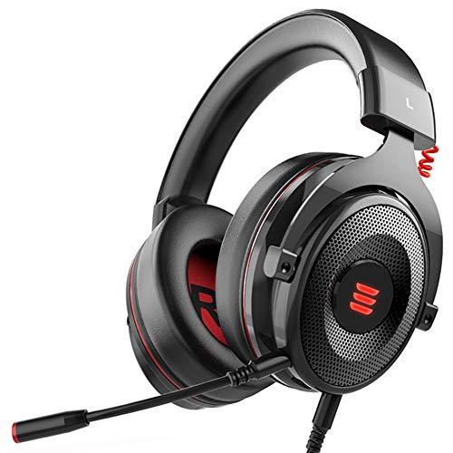 Gaming Headset, Auricular para Juegos con Sonido Envolvente Virtual 7.1 con Cable Gamer Auriculares con micrófono con cancelación de Ruido para PC/Xbox / PS4