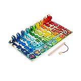 ZAKRLYB Infantil Puzzle Digital for la Educación Bloque de construcción de juguete Mar Pesca Junta logarítmica Número forma que empareja Rompecabezas herramienta de enseñanza for los niños de la Ilust