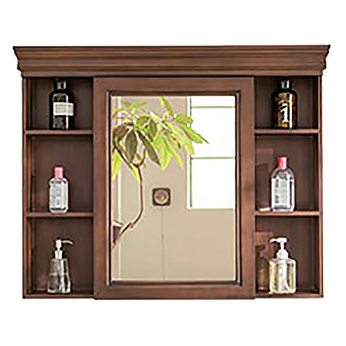 Wilk Mueble de baño Wandspiegelschrank aus Holz für Badezimmer, Wandspiegelschrank für Badezimmer, Wandspiegelschrank für Badezimmer, Spiegeltür, Antiker Spiegelschrank