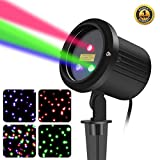 3 Color Motion Laser Christmas Lights Projector with RF Remote,Outdoor Garden Laser Lights Moving RGB Stars Show for Christmas (RGB Motion)
