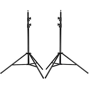 Neewer PRO 9 Feet / 260cm Heavy Duty Aluminum Alloy Photography Photo Studio Light Stands Kit for Video Portrait and Photography Lighting  2 Pieces