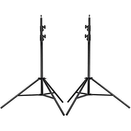 Neewer® PRO 9 Fuß / 260cm Hochleistungs Aluminiumlegierung Fotografie Foto-Studio-Licht Stativ Set für Video, Porträt und Fotografie Beleuchtung (2 Stück)