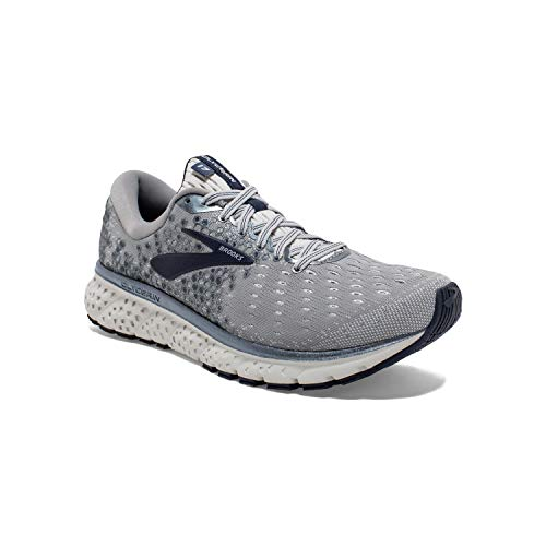 Brooks Mens Glycerin 17 Running Shoe - Grey/Navy/White - 2E - 11.5