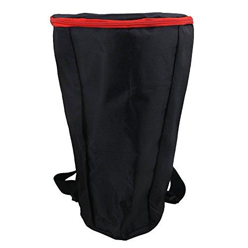 RDEXP Tasche für Djembe/Trommel/Trommel/Tragetasche aus Nylon, wasserdicht, mit Reißverschluss, verstärkte Schultergurte, für 30,5 cm (12 Zoll) afrikanische Schlagzeuge, Schwarz
