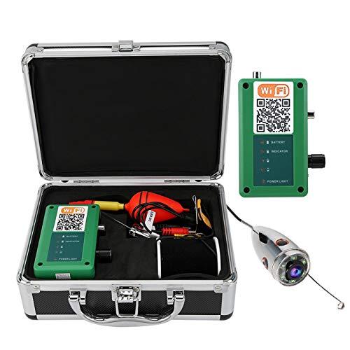 Tomanbery Pantalla LCD 720P HD Cargable Sensible 6 Cámara de Pesca LED Ajustable(European Standard (100-240v))