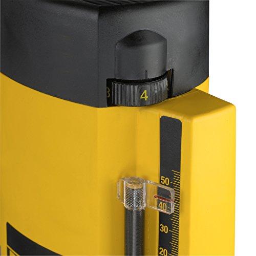 Dewalt 900 Watt Oberfräse (Leerlaufdrehzahl 8,000 - 24,000 min-1, Fräskorbhub 35 mm, max. Fräs-ø 30 mm, Vollwellenelektronik, inkl. Zubehör), DW615