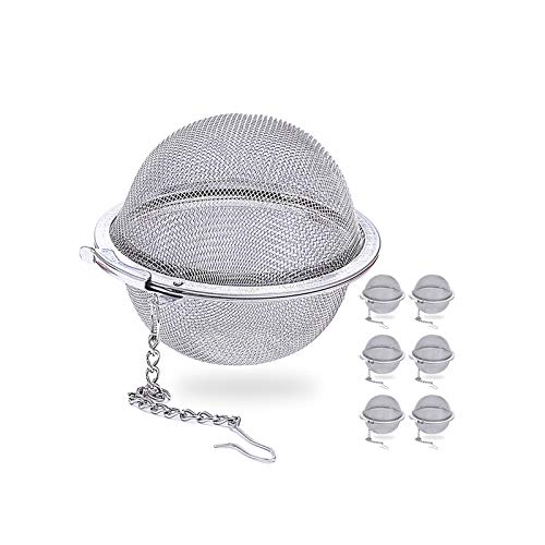 MA Keleily Filtro Tisane Infusione 6 Pezzi Filtro per tè in Acciaio Inox Infusore tè Tea Ball per Foglia di tè, Erbe, Spezie, 5,5 CM