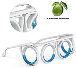 Upgraded Ultra-Light Foldable Portable Anti-Motion Sickness Glasses, Magnetic Relieve Glasses with Liquid Magnetic Adsorption Fruity Fragrance for Adults Or Kids Travel Plane Car Boat Pregnancy Trip