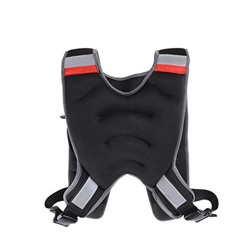 MOVSTAR Weighted Vest with Reflective Stripe, Adjustable Weighted Vest for Running, Workout, Cardio, Walking and Weightlifting for Men&Momen, 10lbs