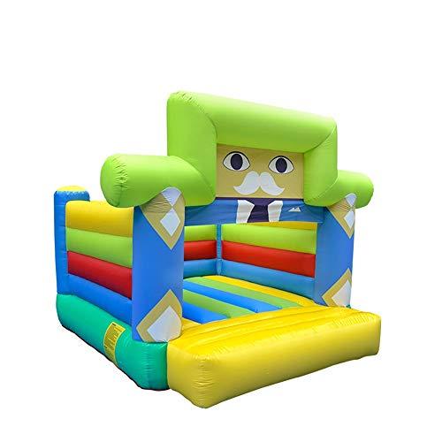 Castillo Inflable Juego de castillo inflable inflable de diapositivas Trampolín Trampolín niños Instalaciones al aire libre Entretenimiento Castillo para Niños ( Color : Verde , Size : 310x260x240cm )