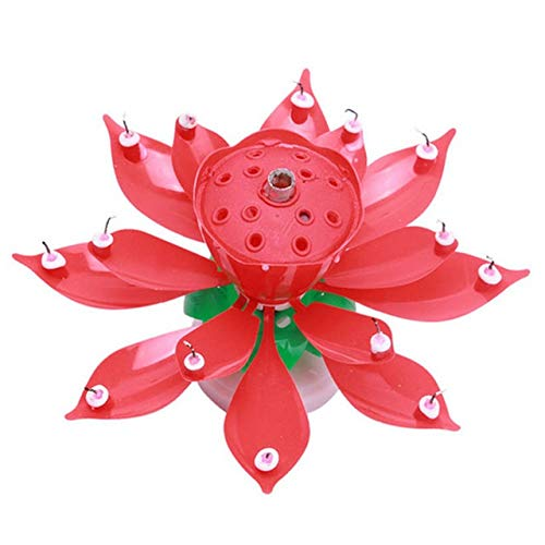 Bougie anniversaire fleur de lotus