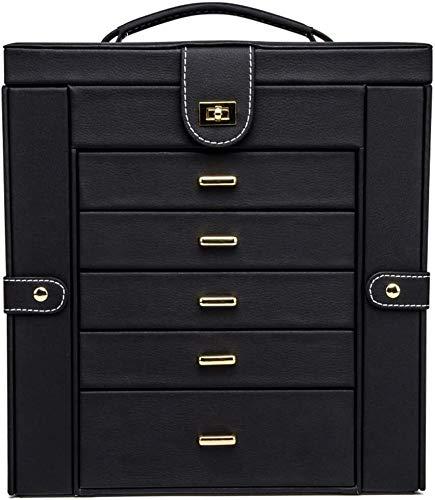 Caja de joyería Joyery Box, Funcional Faux Jewelry Organizer Mostrar caja de almacenamiento, Regalo para niñas o mujeres Caja de almacenamiento de gran capacidad Caja de almacenamiento de joyería DAGU