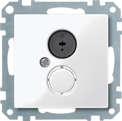 Merten Lautsprecher-Steckdosen-Einsatz 296919 polarweiss glänzend System M, Weiß
